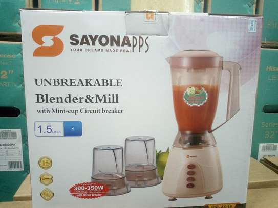 Sayona unbreakable blender and mill image 1