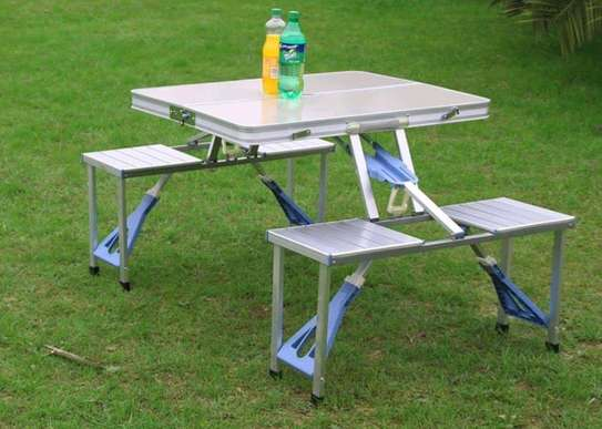 Foldable picnic table image 1