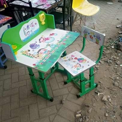 Cartoon kids study  desk image 1