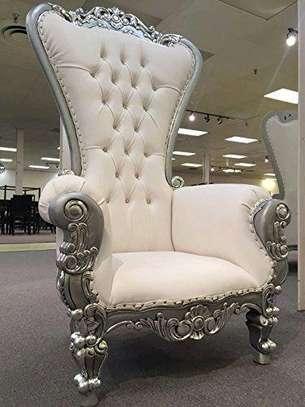 Antique sofas/white sofas/single seater antique sofa/one seater sofa/arm chair image 1