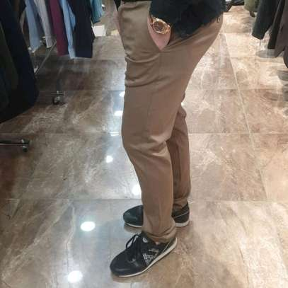 Soft slim fit khaki pants