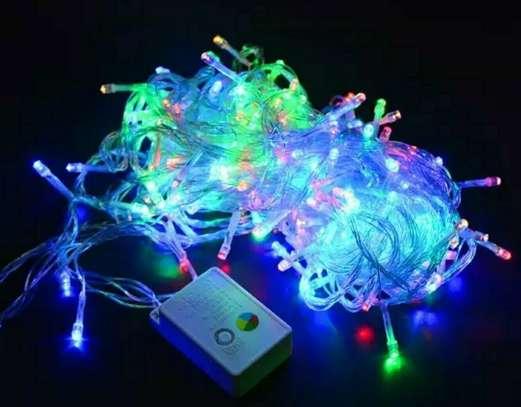 Fairy string lights multicoloured 100 LED'S 10 meter and E.U to U.K adapter plug image 2