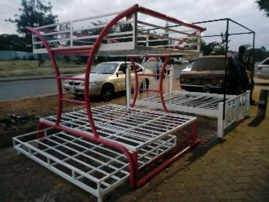Metallic Double beds for sale. image 7