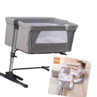Portable Baby Travel Cot Basinet Side Sleeping Bassinette 110 X 56 X 78cm for 0-24 Months Baby image 2
