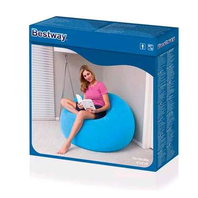 Bestway inflatable flocking bean bag chair with pump image 2