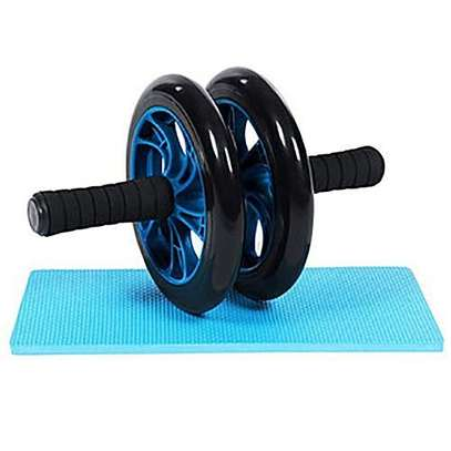 AB Wheel Rubber Roller Double Wheel -(Black and Blue)
