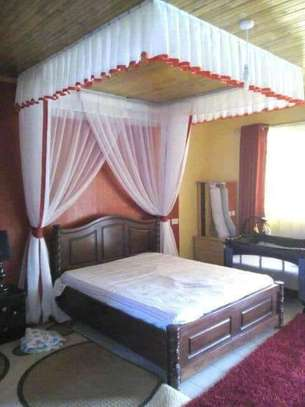 Brand new custom made Rail shears mosquito nets sliding like curtains fixed on the ceiling image 7