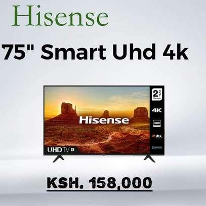 75 Hisense 4K UHD  Smart LED TV With Bluetooth - Easter Monday sale image 1