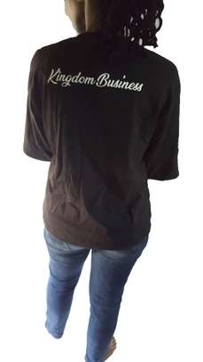 Black scripted T-shirts image 2