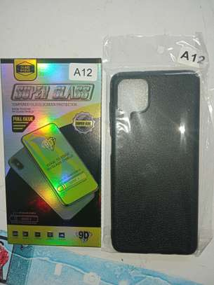 Samsung A12 Cover and Glass Protector(Combined) Available image 1