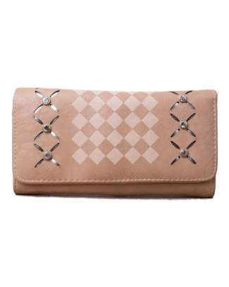 Brown Wallet (Half checked white and brown) image 1