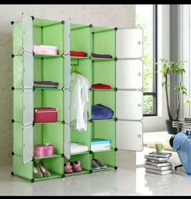 3 Column Plastic Portable Wardrobe