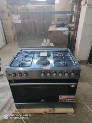 Master chef electric gas cooker and oven image 1