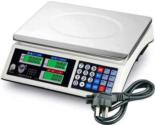 Electronic LCD Digital Price Computing Weighing Scale for Food Fruits Meat image 1