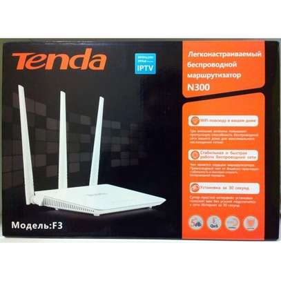 Tenda Wireless WiFi Router F3 300M image 1