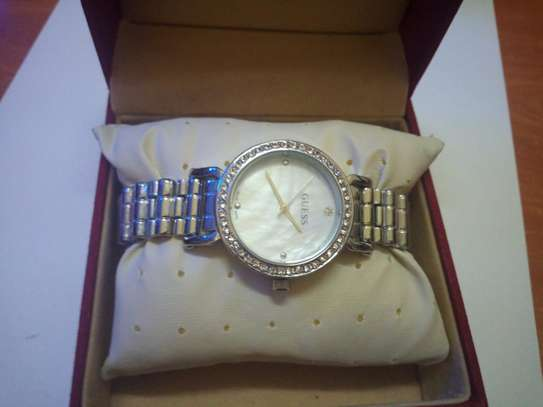Guess Women's Silver Stainless Steel Watch