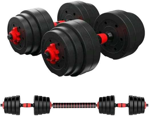 30kg Adjustable Dumbbells/Barbell image 1