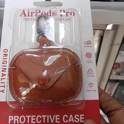 Apple Airpods Pro Protective Case Leather image 1