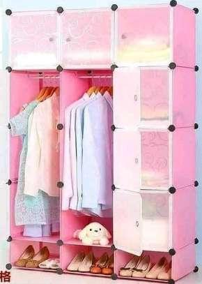 3-column plastic wardrobe image 1
