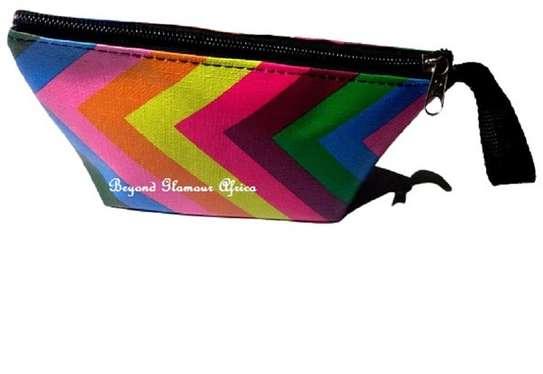 Women's Multicolor stripped coin accessories purse image 1