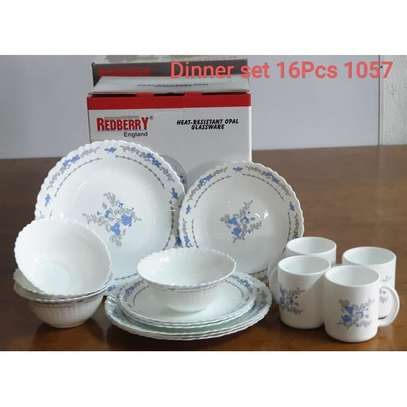 Generic 16 Pcs Dinner Set(white With blue Floral) image 3