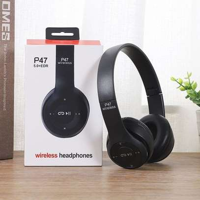 Headphones Bluetooth Headset With TF Mic 3.5 jack pin for IOS/Android image 2