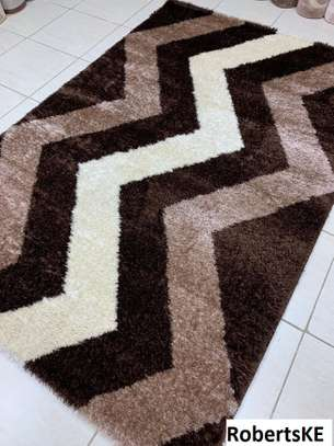 brown patterned soft turkish carpet 6by9 image 1