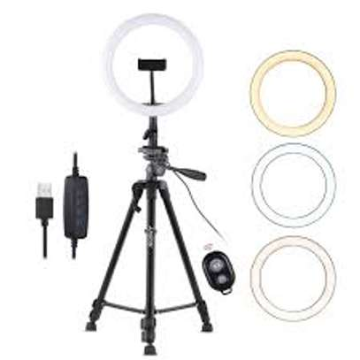 10 Inches Ring Light Kit with Tripod Stand & Phone Holder image 2