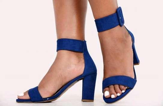 Ladie chunky heels image 1