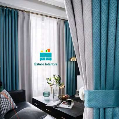 QUALITY CURTAINS WITH SHEERS image 1