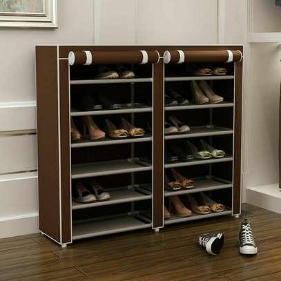 2 Column Portable Shoe Rack- Best Quuality image 2
