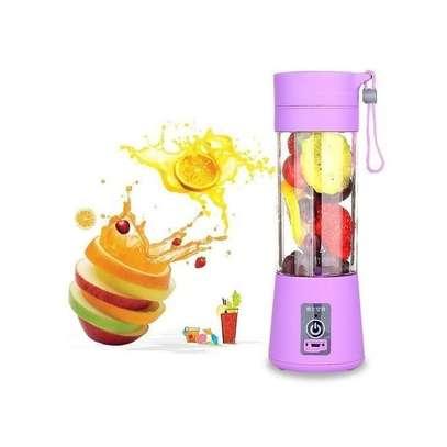 USB Rechargeable Portable Blender - Hand Held Fruit Juicer Smoothie Maker Bottle-Pink image 4
