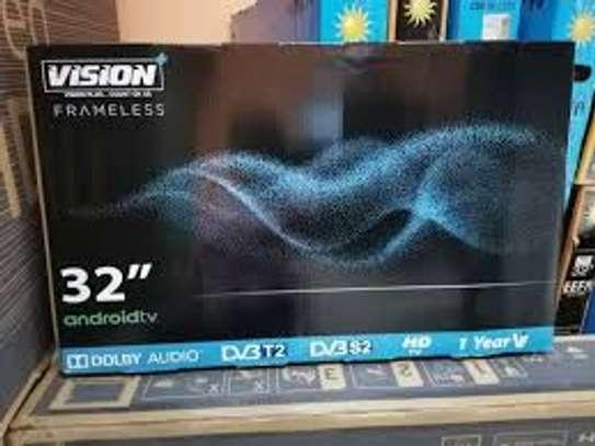 VISION 32 INCH SMART ANDROID FRAMELESS LED TV image 1