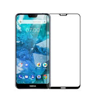 5D HD Clear Tempered Glass Front Screen Protector for Nokia 7.2 image 1