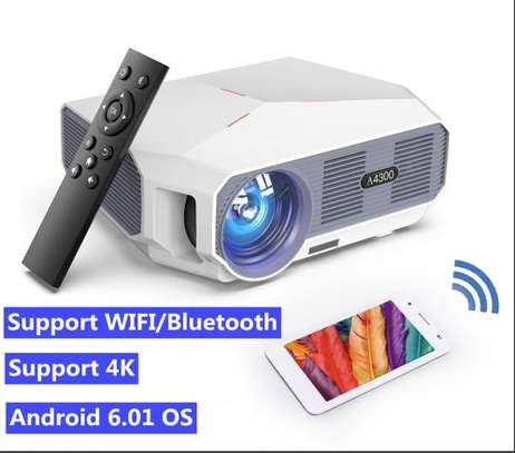 Android 4K Projector 4600 Lumens image 1