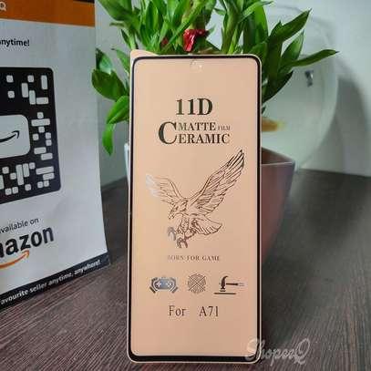 Ceramic Full 5D Glass Protector Flexible Anti-Break,Anti-Fingerprint for Samsung A71 A31 A51 image 3