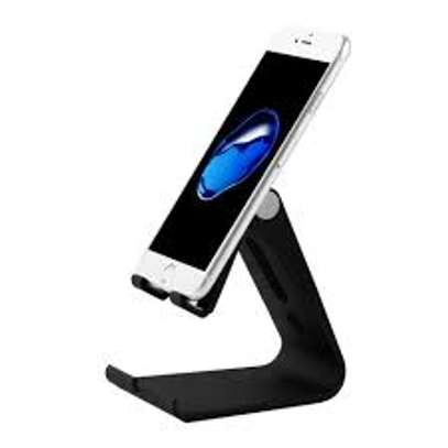 Foldable Cell Phone Stand, [2021 Updated] Angle & Height Adjustable Desk Phone Holder with Stable Anti-Slip Design Compatible with iPhone image 1