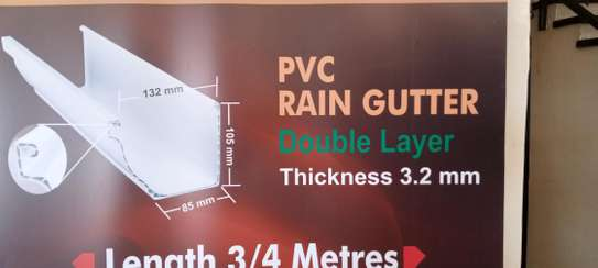 Pvc boxed profile gutters and pipes