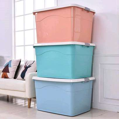 Patel pink and blue large storage boxes with wheels image 1