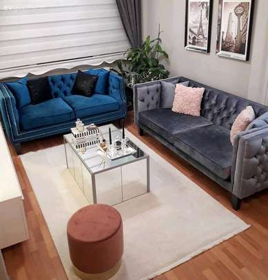 Five seater sofas for sale in Nairobi Kenya/Grey three seater chesterfield sofas for sale in Nairobi Kenya/Blue two seater sofa for sale in Nairobi Kenya image 1