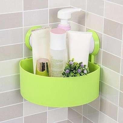 Triangle Traceless Suction Bathroom Shelves image 1