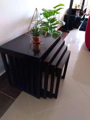 Modern Black Wood Coffee Table image 5