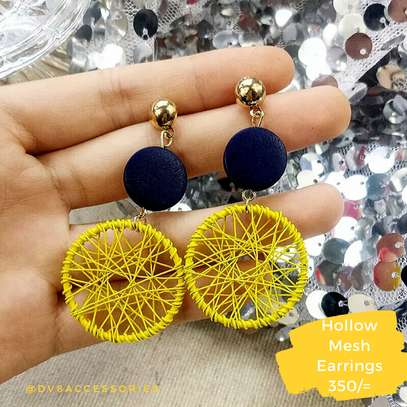 Hollow Meshed Earrings.