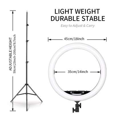 RL-18, Selfie Ring light and Photographic lamp - 18 inch image 3
