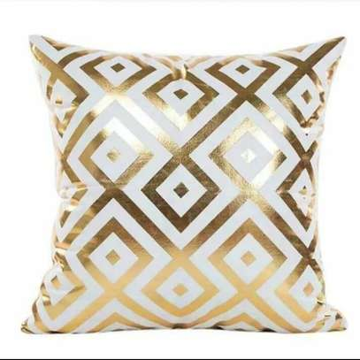 Gold Coated Throw Pillows image 4