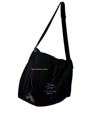 Denim Shoulder Handbag with Adjustable Strap image 1
