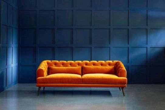 Orange sofas for sale in Nairobi Kenya/Best sofa ideas/Chesterfield sofas for sale in Nairobi Kenya image 1
