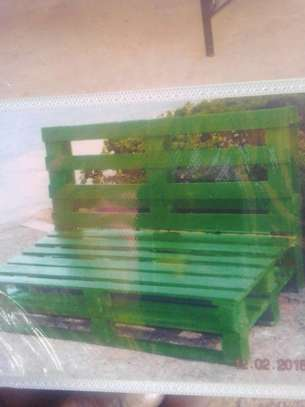 Wooden bench image 1
