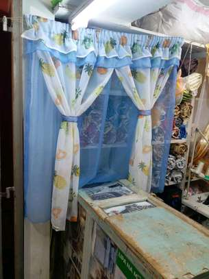 kitchen curtain 200cm width by 120cm height image 2