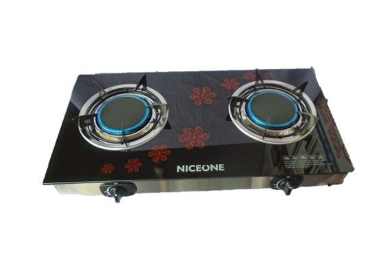 2 Burner - Glass top - Black image 1